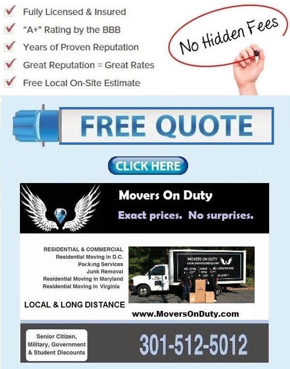 Moving companies silver spring Maryland