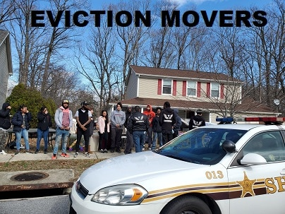 sheriff doing an eviction in Baltimore