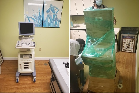 Dental office movers